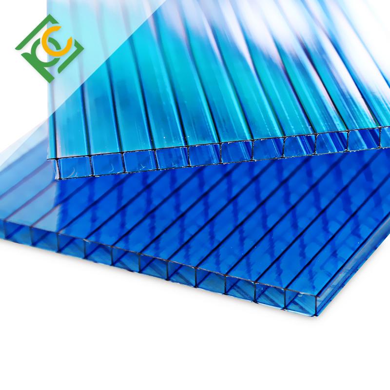 twin-wall pc lite polycarbonate hollow sheet price hollow core polycarbonate sheet