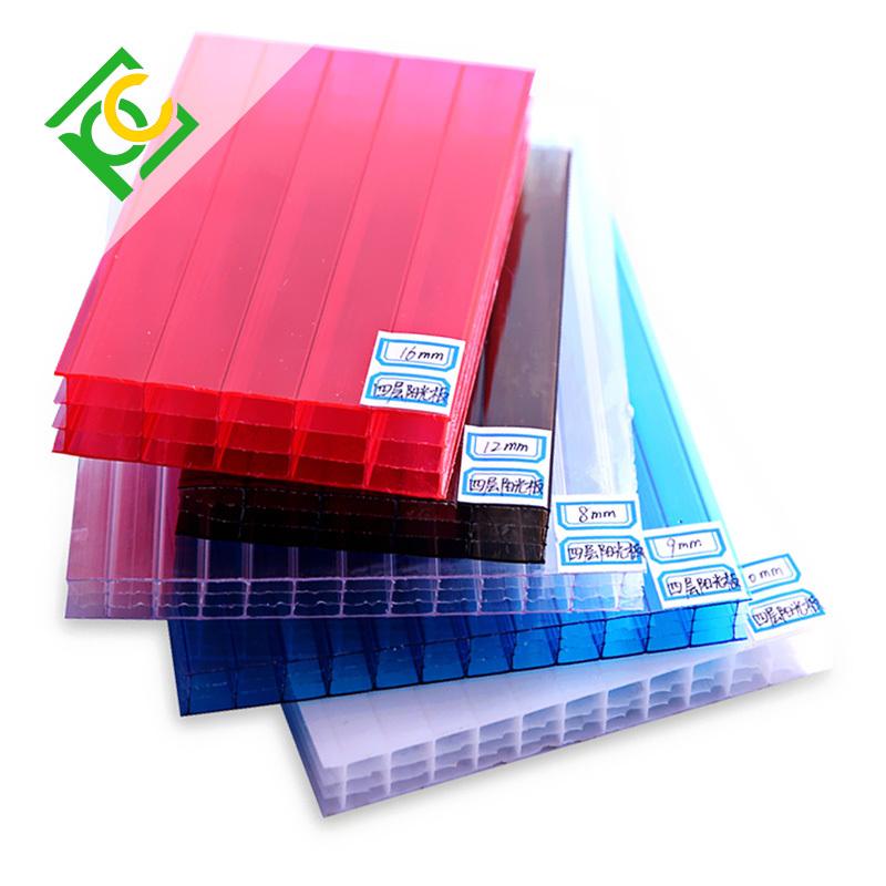 FOUR-WALL Hollow Polycarbonate Sheet pc lite polycarbonate hollow sheet price