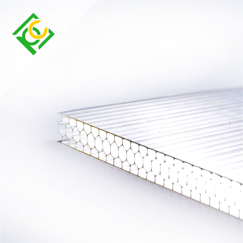 high impact resistance polycarbonate honeycomb sheet for greenhouse/garage/sun shade