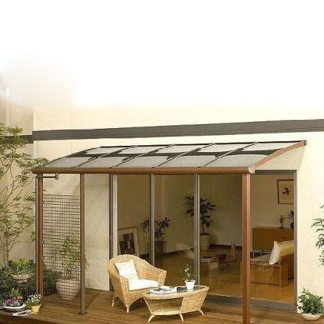 UNQ Latest smoked polycarbonate sheet factory for private garden-1