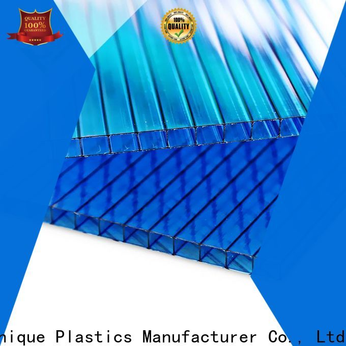 Custom frosted plastic sheet factory for railway station and aviation overpass