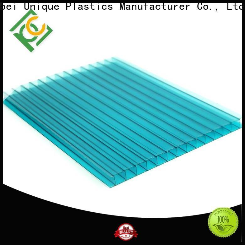 UNQ Best uv protected polycarbonate panels factory for building interior decoration