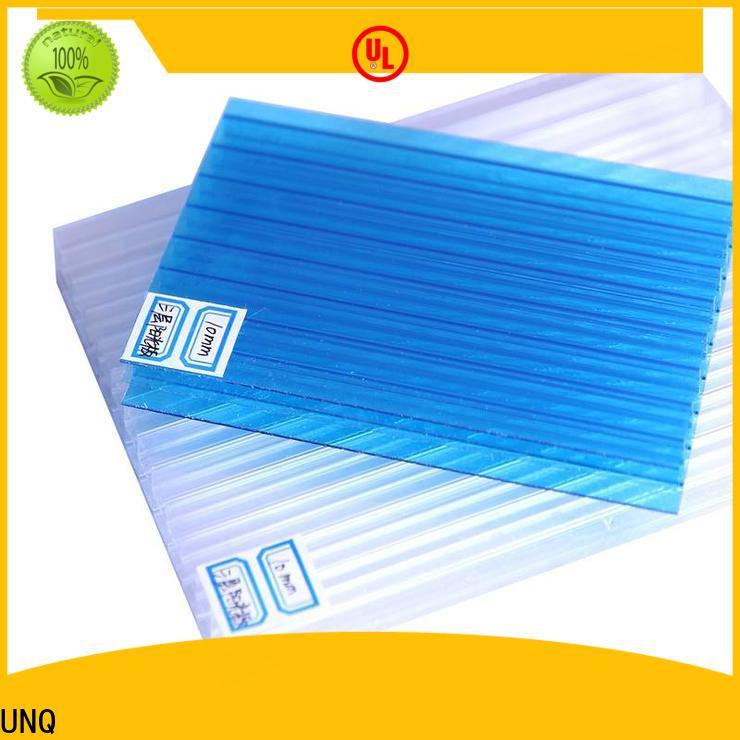 UNQ double wall polycarbonate factory for building interior decoration