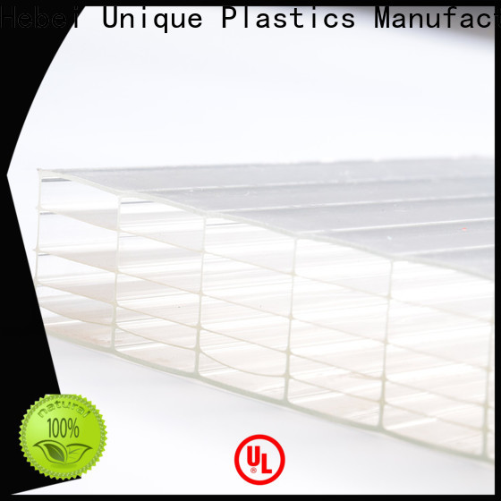 UNQ flexible polycarbonate manufacturers for architectural lighting roof