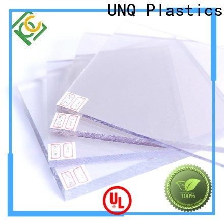 UNQ recycled polycarbonate sheet manufacturers for air transparent container