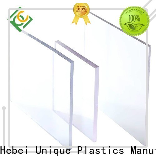 UNQ Latest opaque lexan sheet Suppliers for air transparent container