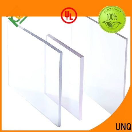 UNQ Custom 1mm polycarbonate sheet manufacturers for greenhouse
