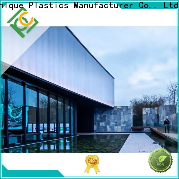 High-quality double wall polycarbonate roofing factory for railway station and aviation overpass