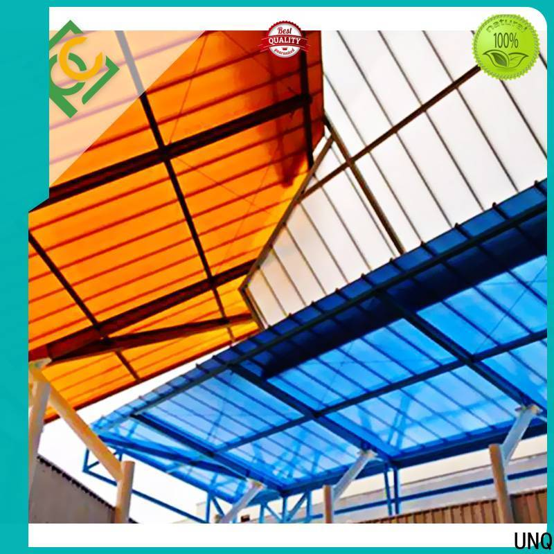 UNQ Top polycarbonate sheets calgary factory for railway station and aviation overpass