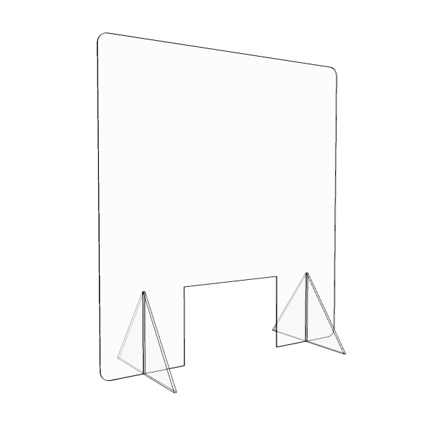 30″ x 32″ Counter Freestanding Protective Sneeze Guard