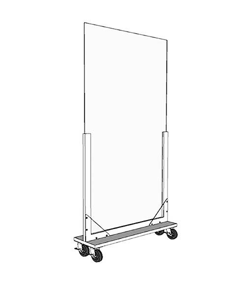 Portable Acrylic Divider Room Dividers On Wheels