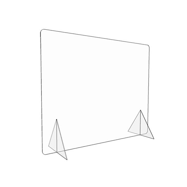 XL 40″ x 32″ Freestanding Sneeze Guard Shield