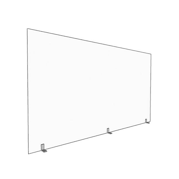 46″x24″ Large Acrylic Sneeze Guard Divider