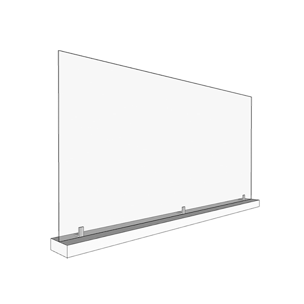 Large 46″ x 24″ Sneeze Guards with Base