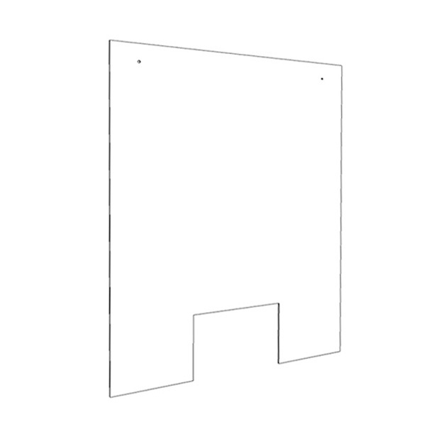 32″ x 40″ Low cost Hanging Acrylic Sneeze Guard