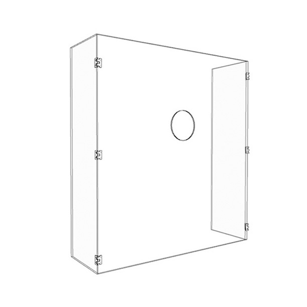 28″ x 34″ x 9″ hinged plastic sneeze guards for Temperature Check
