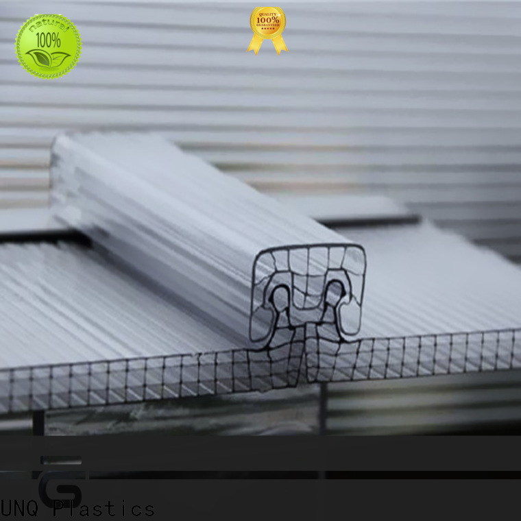 UNQ High-quality polycarbonate sheet dimensions Suppliers for railway station and aviation overpass