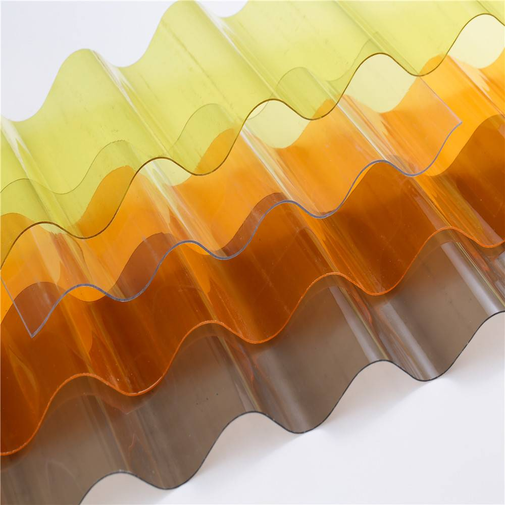 Polycarbonate corrugated sheets high impact resistant
