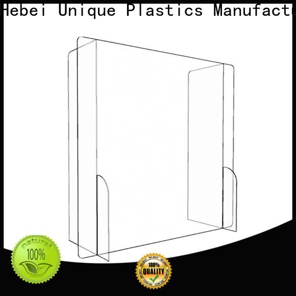 UNQ hanging sneeze guard manufacturers for Desktop Shields