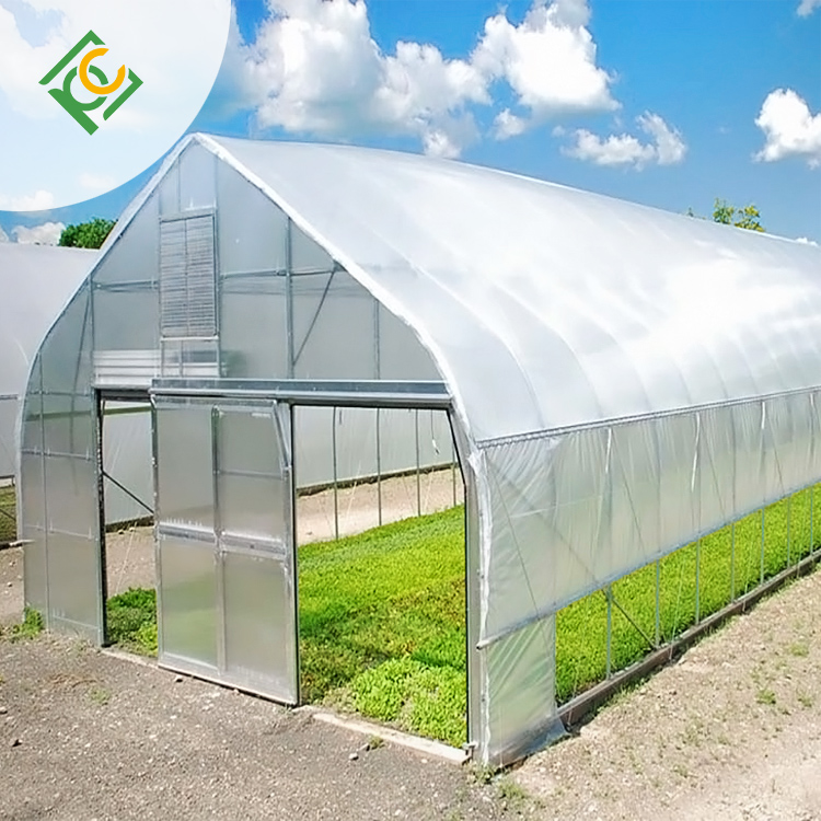 UNQ New double wall plastic sheeting greenhouse for business for flower planting-2