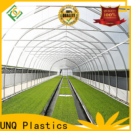 UNQ New double wall plastic sheeting greenhouse for business for flower planting
