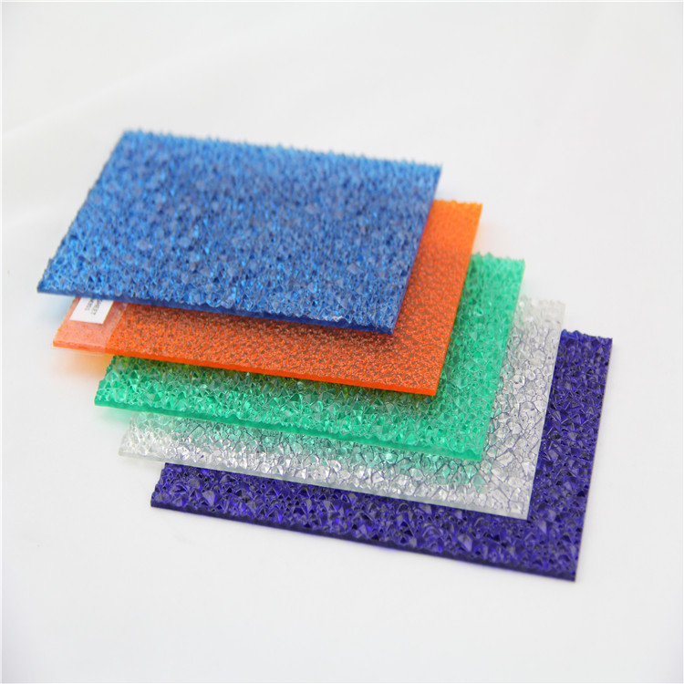 embossed solid polycarbonate sheet for shower room decoration