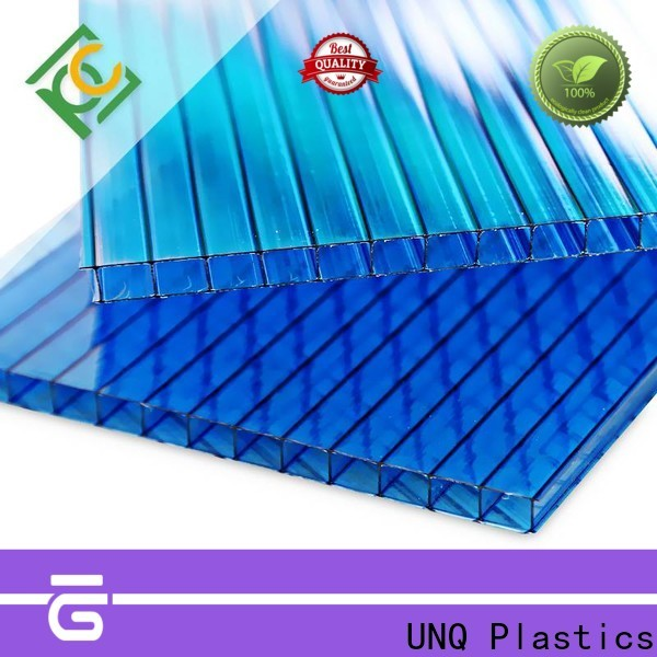 UNQ High-quality 8mm twin wall polycarbonate panels Supply for building interior decoration