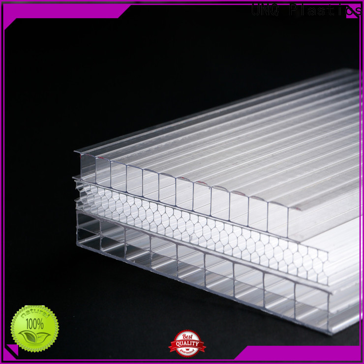 UNQ 5mm polycarbonate sheet manufacturers for architectural lighting roof