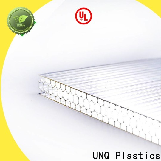 UNQ 8mm polycarbonate panels canada Supply for architectural lighting roof
