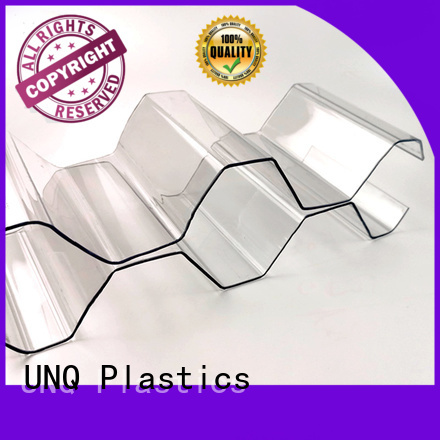 UNQ tinted plastic sheets factory for metal roof with lighting