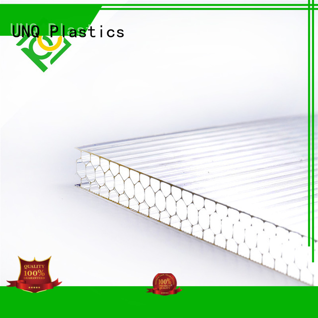 UNQ Wholesale polycarbonate light cover factory for railway station and aviation overpass
