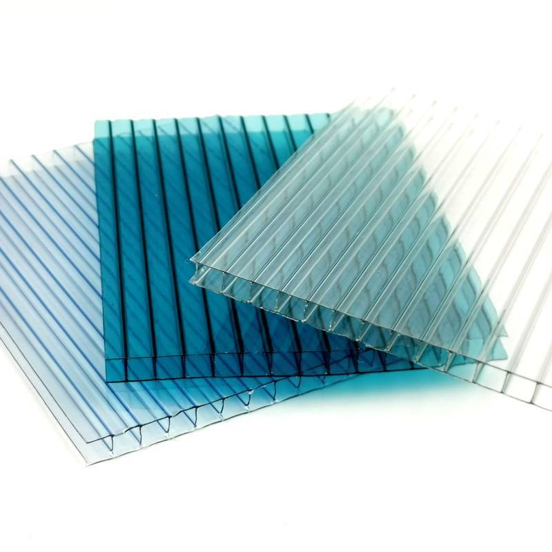 wholesale Hollow polycarbonate sheet with UV Protected, greenhouse  panels