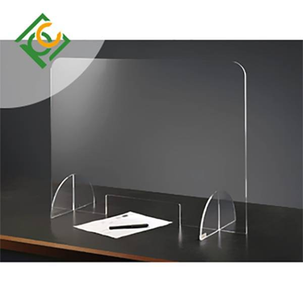 Business style Polycarbonate sneeze guard for desk