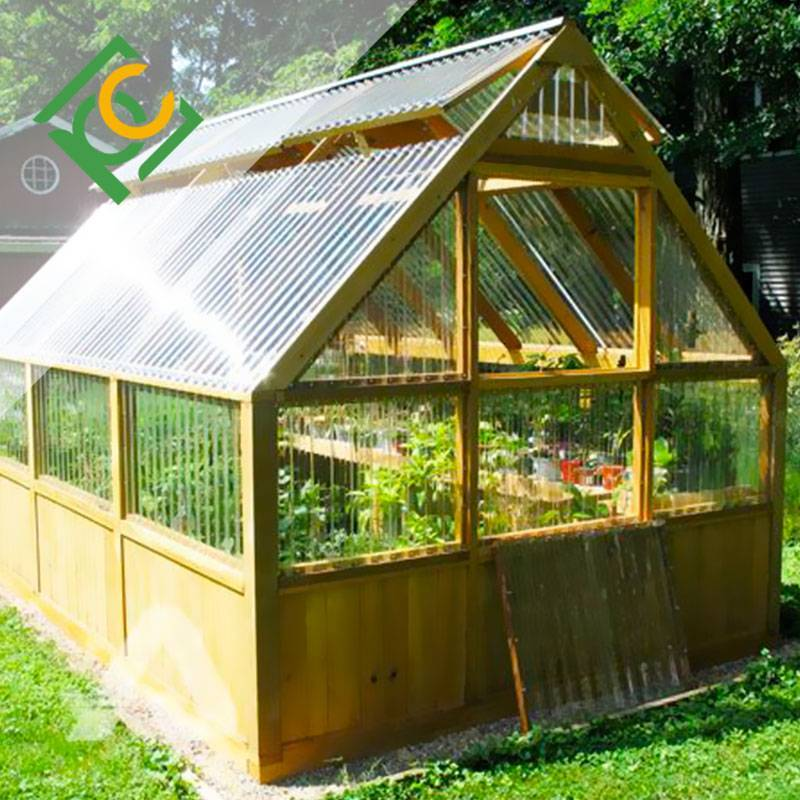 Corrugated Polycarbonate sheet Garden greenhouse