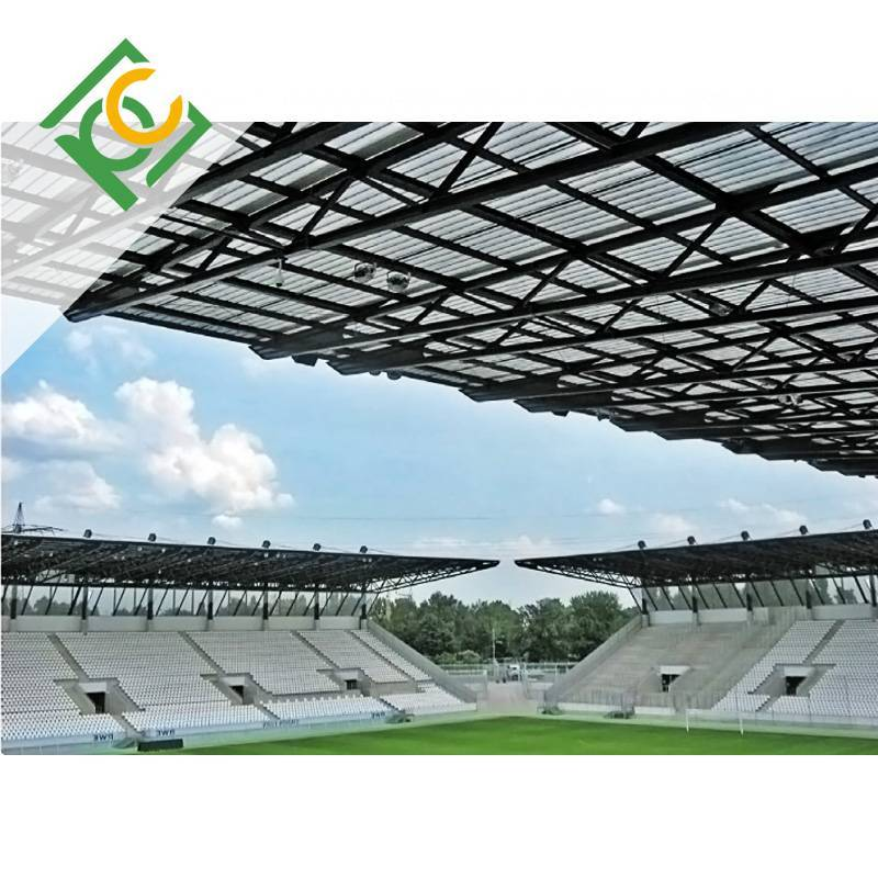 Corrugated Polycarbonate Sheet for Public sports venues lighting cover