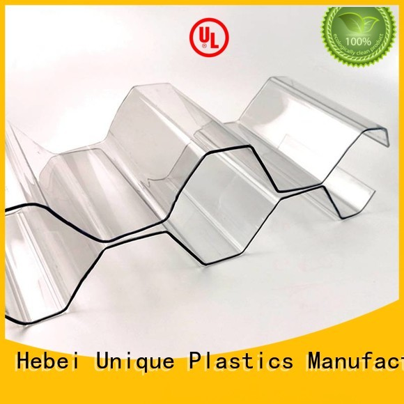 UNQ High-quality transparent polycarbonate sheet price Supply for warehouse