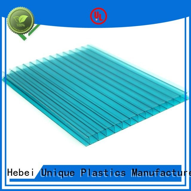 UNQ polycarbonate sheet properties factory for architectural lighting roof