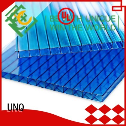 Custom opaque polycarbonate sheet manufacturers for railway station and aviation overpass