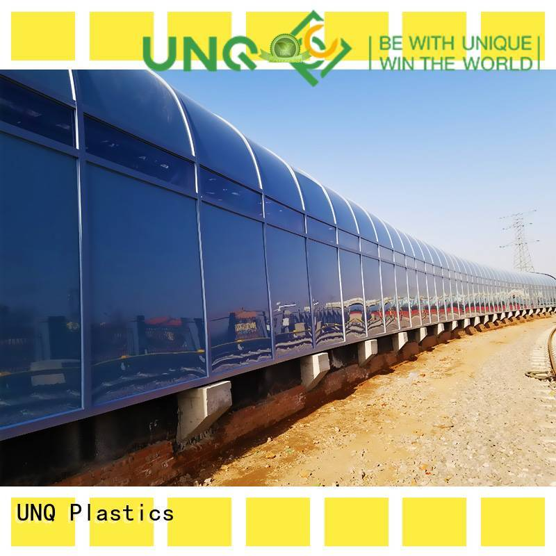 UNQ New cutting polycarbonate roofing factory for LED panel board