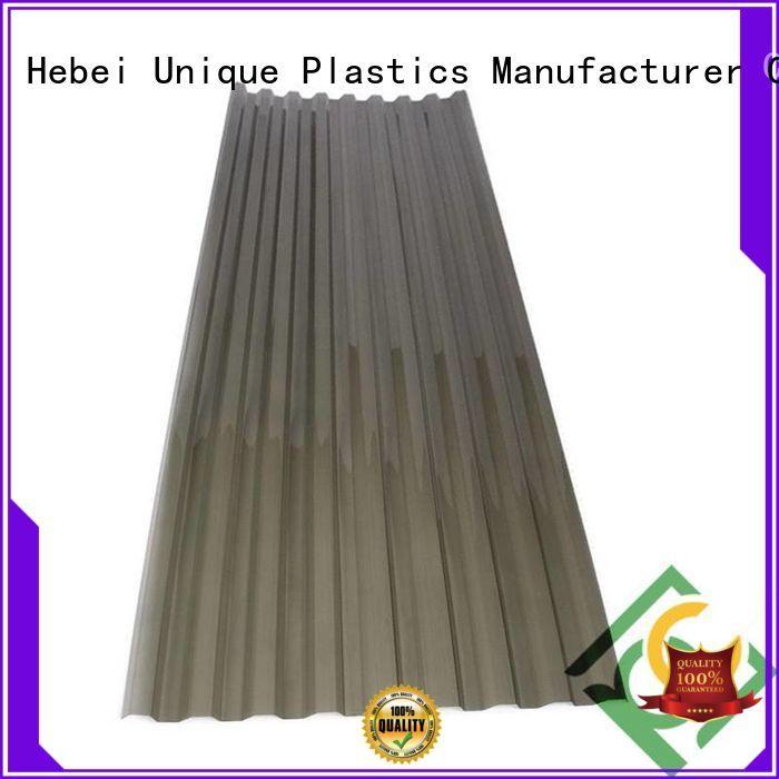 UNQ flat polycarbonate panels manufacturers for commercial buildings
