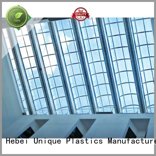 UNQ lexan polycarbonate tube for business for air transparent container