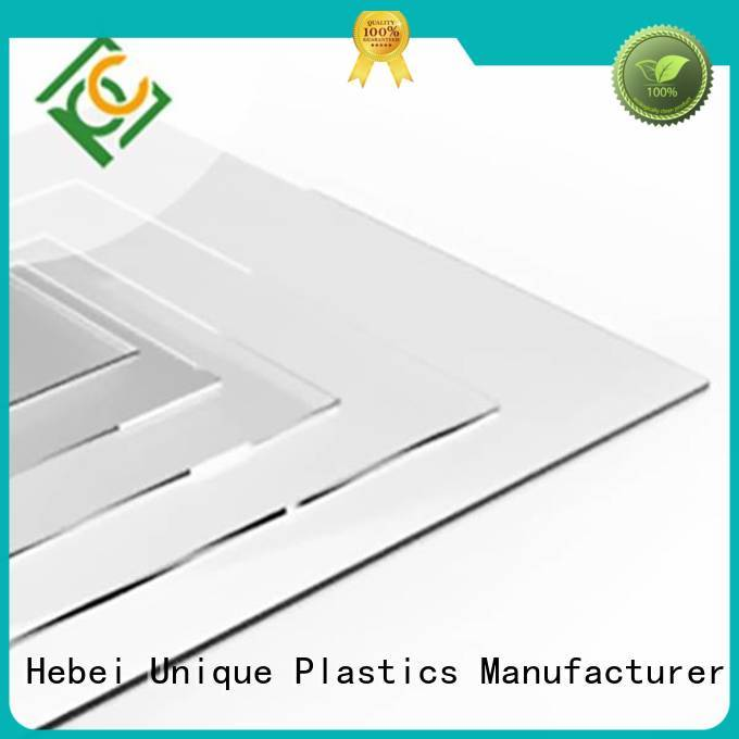 UNQ polycarbonate sheet stockists factory for greenhouse