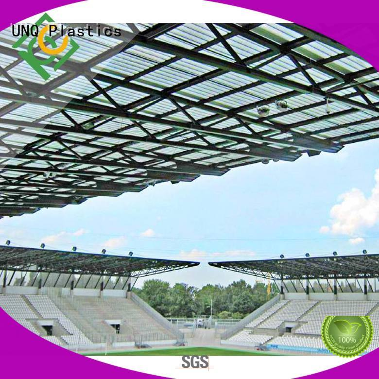 UNQ polycarbonate greenhouse company for metal roof with lighting