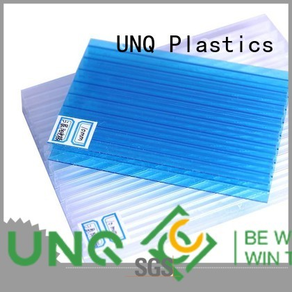 UNQ colored polycarbonate panels manufacturers for architectural lighting roof