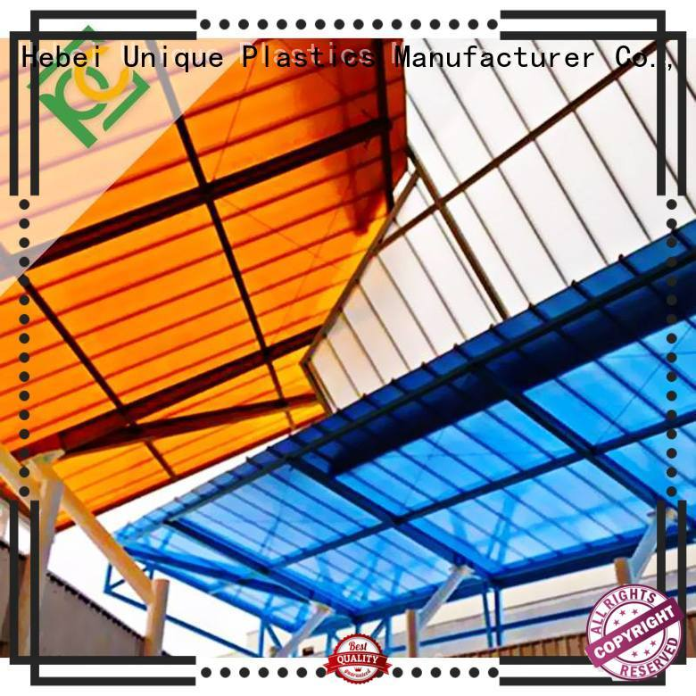 Custom polycarb panels company for railway station and aviation overpass