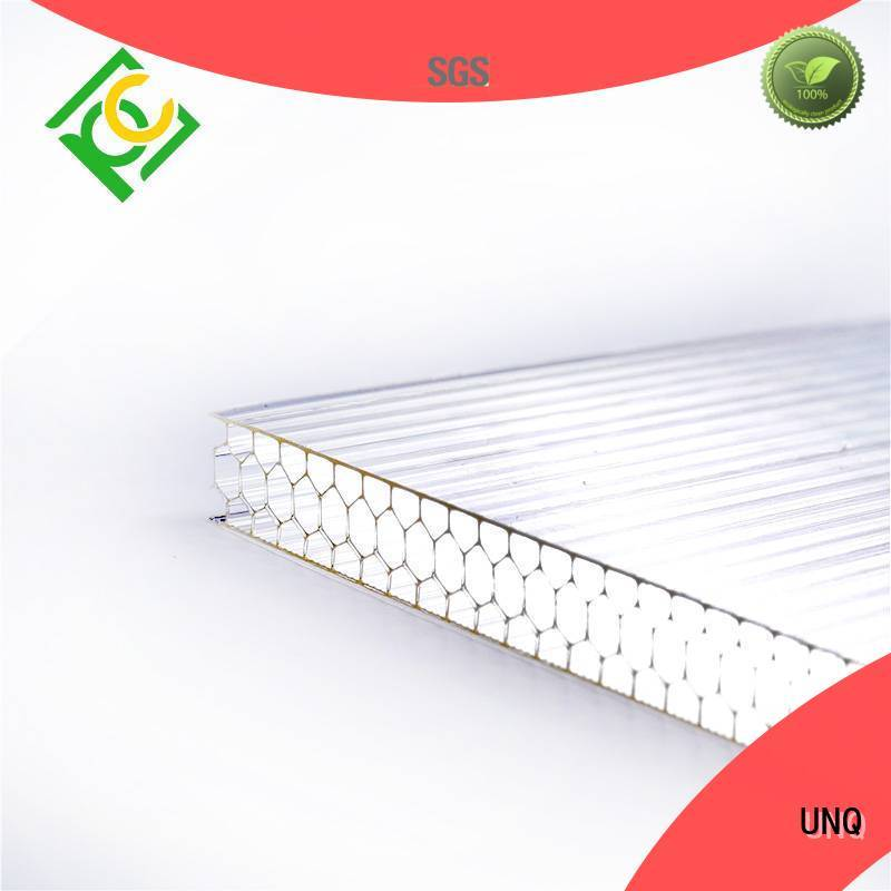 UNQ cutting polycarbonate sheet factory for building interior decoration
