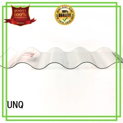 UNQ Top blue polycarbonate roofing sheets Suppliers for train stations