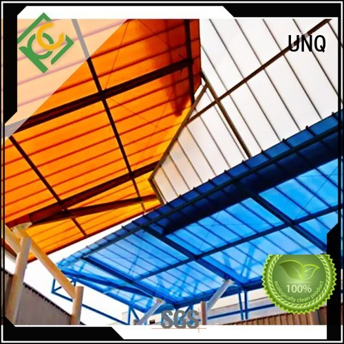 UNQ large plastic sheets manufacturers for railway station and aviation overpass