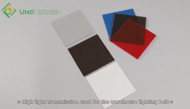 Soild clear polycarbonate panels Video Display