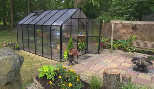 Polycarbonate gardenhouse commercial greenhouse Video